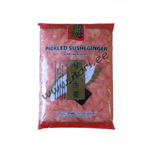 Marineeritud Sushi Ingver, roosa (Fudo)