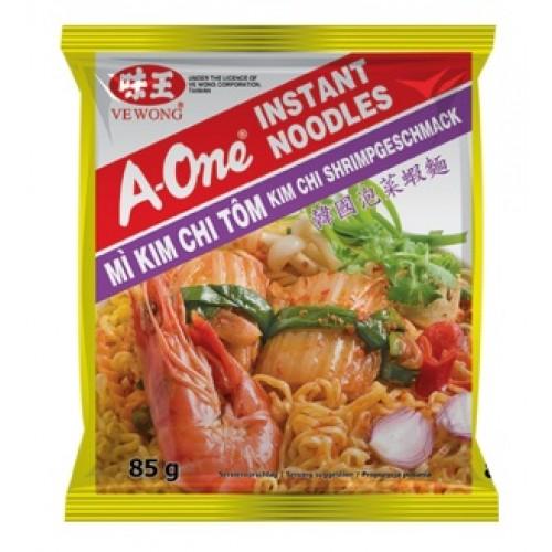 Kiirnuudlid Kimchi, krevettide maitsega, keskmine teravus (Mi Kim Chi Tom)