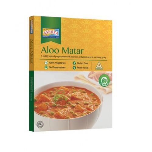 Картофель и зелёный горошек в индийском соусе (Aloo Matar)
