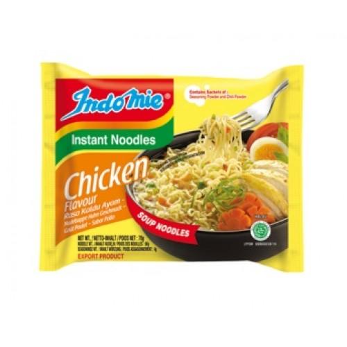 Kiirnuudlid kanaliha maitsega, keskmine teravus (Indomie, Chicken flavour)