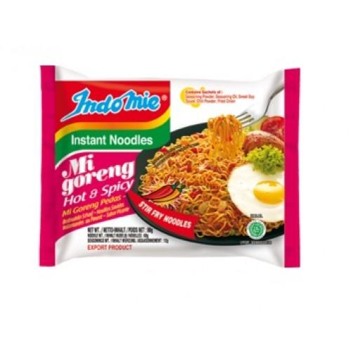 Praetud kiirnuudlid, väga teravad (Mi Goreng, Fried Noodles, Hot & Spicy)