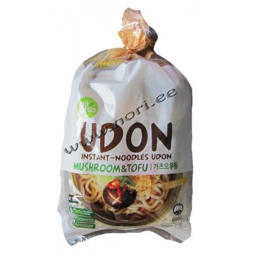 Kiirsupp Udon nuudlid, tofu ja seened (Allgroo)
