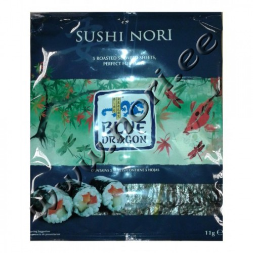 Sushi norilehed, 5 lehte (Blue Dragon)