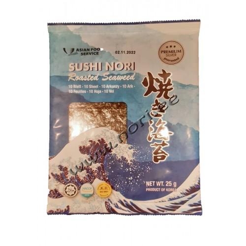 Листы Нори из водорослей для суши, 10 листов (AFS)