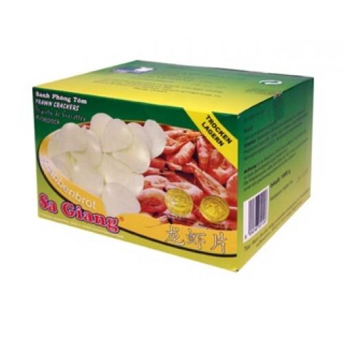 Krevetimaitselised krõpsud fritüürimiseks, valged (Sa Giang)