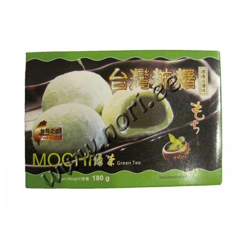 Рисовые конфеты Моти, зелёный чай