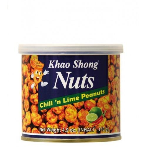 Chilli ja laimiga kaetud maapähklid