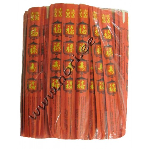 Палочки для еды, бамбуковые (100 пар) - red