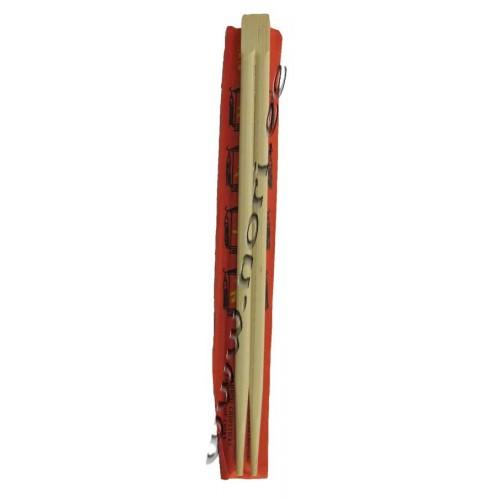 Bambusest söögipulgad (1 paar) - red