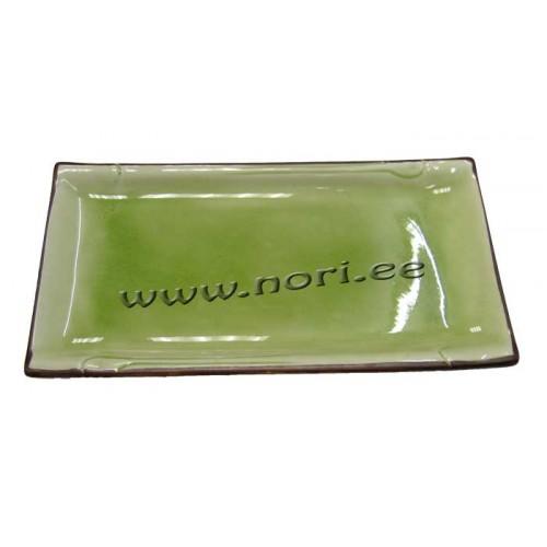 Sushi taldrik, roheline/pruun