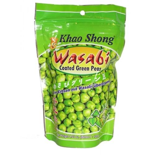 Wasabiga kaetud rohelised herned