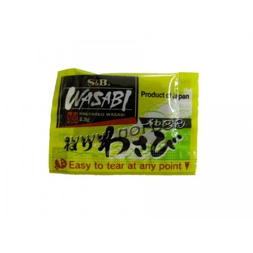 Wasabi pasta, S&B, 2.5g*500tk